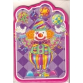 Clown Cake Party Invites